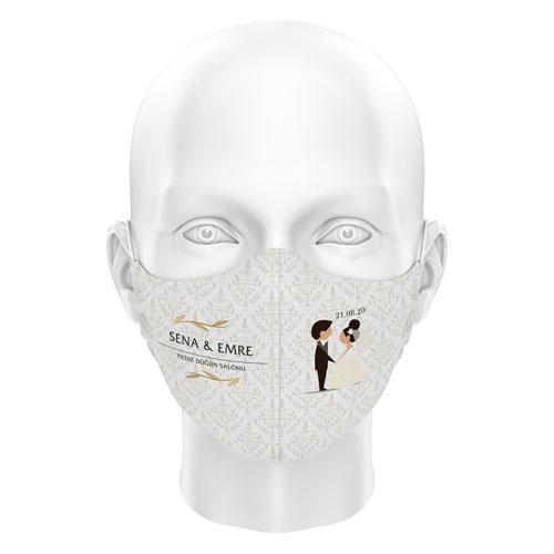 Düğünlere Özel Dijital Maske 03