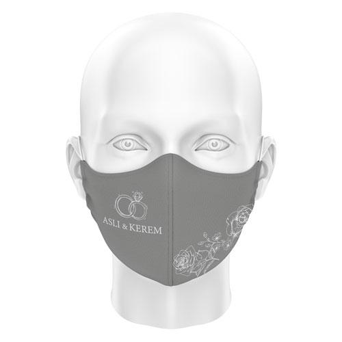 Düğünlere Özel Dijital Maske 05