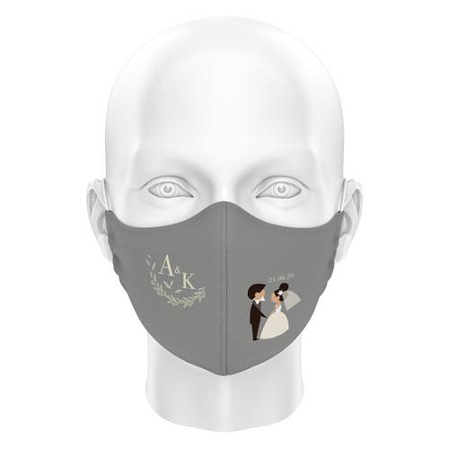 Düğünlere Özel Dijital Maske 06