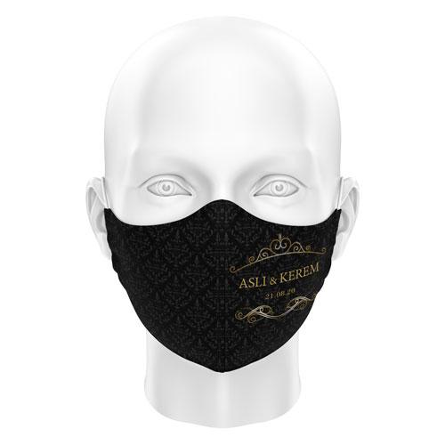Düğünlere Özel Dijital Maske 08