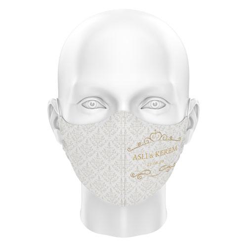 Düğünlere Özel Dijital Maske 09