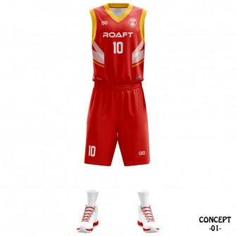 Espana Yellow Basketball Team Jersey