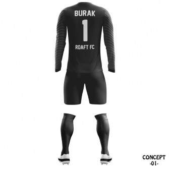 Linear Soccer Team Goalkeeper Jersey